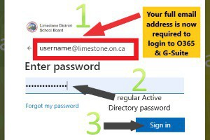 Login Change for Student Accounts Office 365 & Google Suite