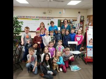 First Grade Honors Volunteer