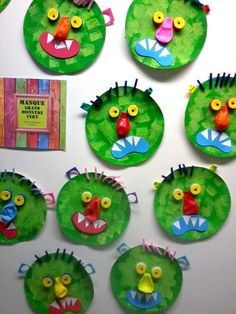 Paper Plate Monster Collage