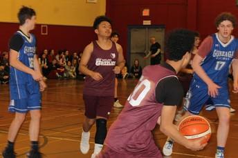 Gonzaga/MDJH basketball game