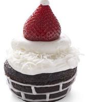 Cupcake Chimney w/ Santas Hat