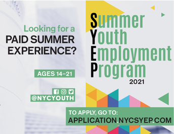 Applications are Open for the 2021 Summer Youth Employment Program - Deadline to Apply is April 23rd