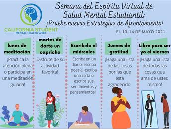 Mental Health Spirit Week (Spanish)