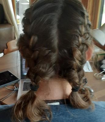 Mrs. Betrus sporting braids