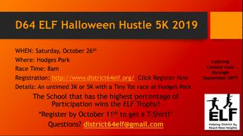 ELF to host Third Annual Halloween Hustle