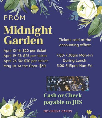 Prom 2021 Tickets Now Available