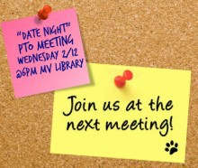 PTO MEETING Wednesday, February 12th @ 6pm MV Library