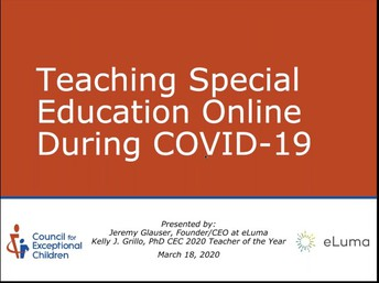 Teaching Special Ed Online