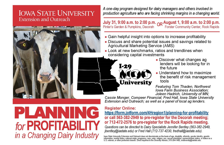 Planning for Profitability Advertisement Postcard