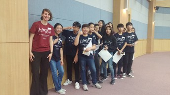 Ms. Van Liew with Students at KIMEA