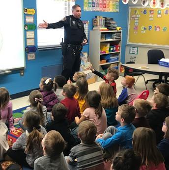 Officer Princivalli teaches a lesson on Stranger Danger