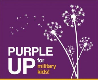 Purple Up! For Military Kids Day