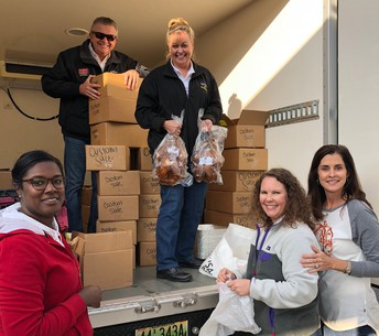 Jean and Jim Kelley (LawLers) provided turkeys for our entire faculty and staff!