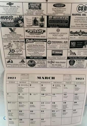 Manvel Community Calendar for 2021