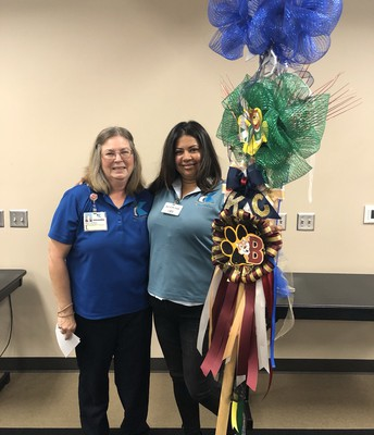 Congrats to Ms. Del Valle for winning the Klein Food Services Spirit Stick!