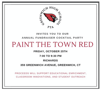 Paint the Town Red GHS Fundraiser Flyer