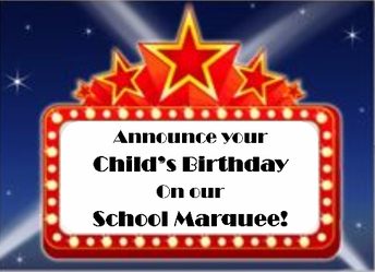 WISH YOUR STUDENT A BIG HAPPY BIRTHDAY!