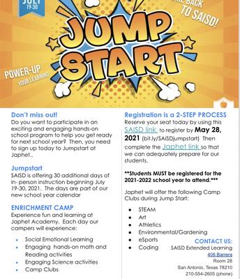 Jumpstart Flyer