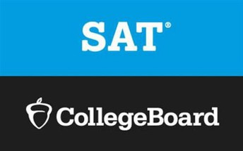 SAT text over College Board text logo