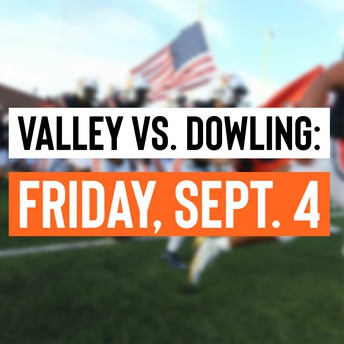 Valley vs. Dowling game graphic