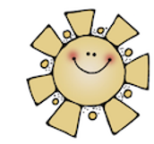 yellow sun with smile