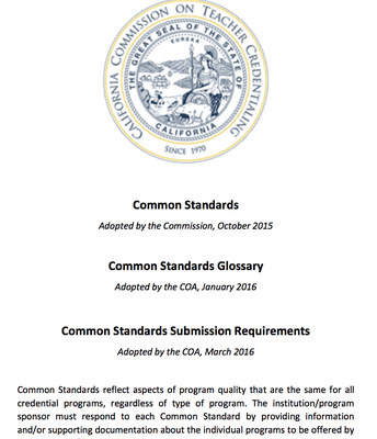 Common Standards