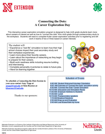 Connecting the Dots: A Career Exploration Day - October 10th