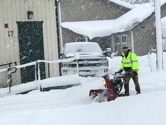 A big thanks to our maintenance crew Mr. Brian & Mr. Bickel for working weekends and early mornings to clear snow!