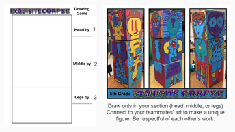 Exquisite Corpse Collaboration Game