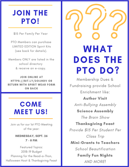 Join the PTO - Click to Enlarge