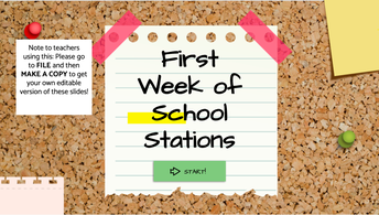 Digital First Week of School with Stations