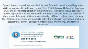 Cypress Creek Hospital Offers Telehealth