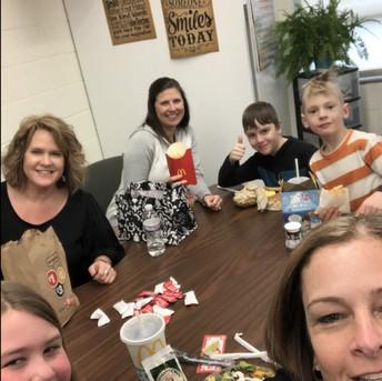 Book Bingo Winners having Lunch with their Teachers!