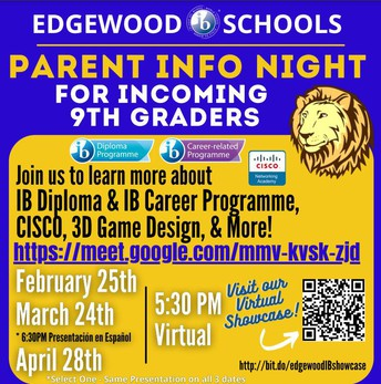 EHS Parent Information Night for HMS and Prospective 9th-Grade students
