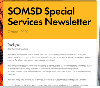Special Services Updates