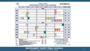 MCPS Instructional Calendar