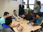 PHHS Students Celebrate Mardi Gras with Seventh Graders