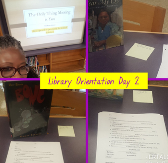 Library Orientation for Sixth Graders