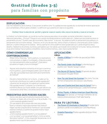 Gratitud (Grades 3-5) Spanish