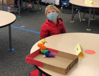 Kindergarteners unfazed by face coverings!