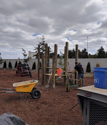 The New Pre-K Playground is Going In!  Next Week...the Big Kids!