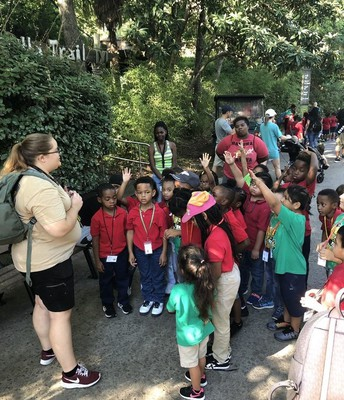 West Main 1st graders were eager to ask questions at the zoo