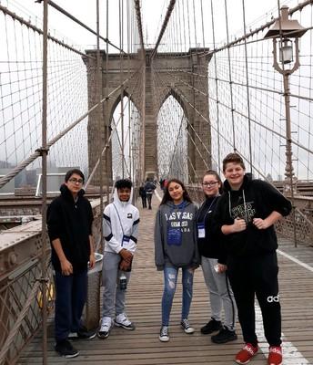 We conquered the Brooklyn Bridge!