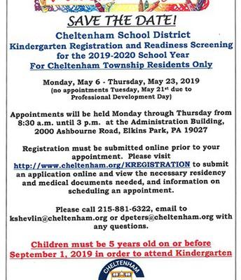 Kindergarten Registration and Screening