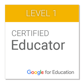 Certified Google Educator L1