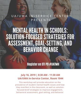 July 16: School-Based Mental Health
