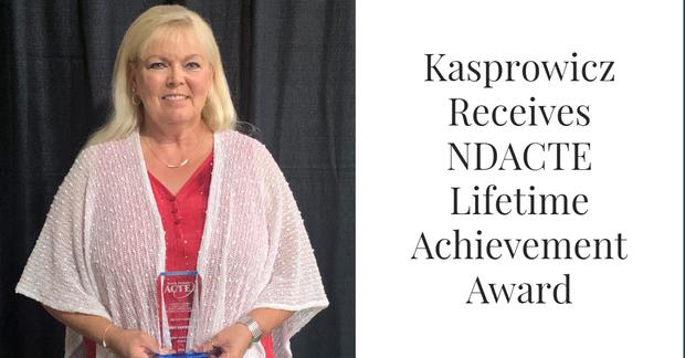 Kasprowicz Receives NDACTE Lifetime Achievement Award
