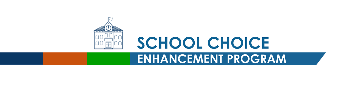 A banner that is titled school choice enhancement program (SCEP)