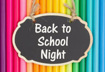 Back to School Night Update