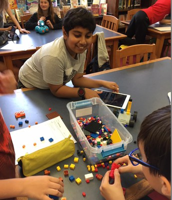 6th graders in our Makerspace robot playground